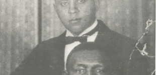 Pianist Manuel Manetta (top) with Oscar Celestin (1925)