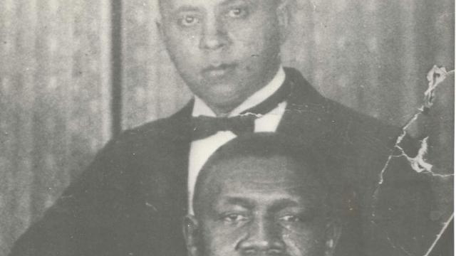 Pianist Manuel Manetta (top) with Oscar Celestin (1925)