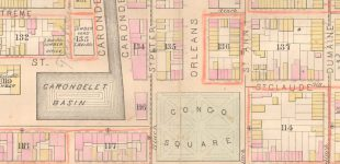 Map of Congo Square - 1880, Photo: Historic New Orleans Collection
