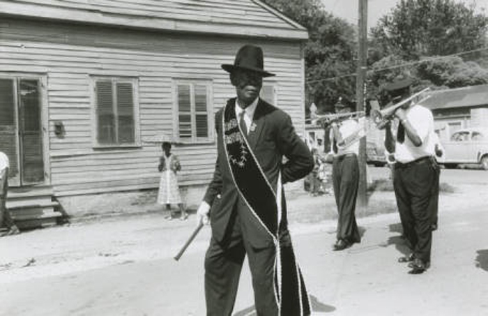 Eureka Brass Band at a funeral, 1958. Photo Credit: Ralston Crawford