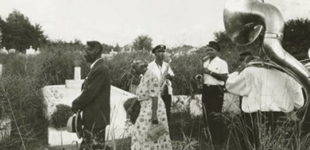 Eureka Brass Band at an Algiers Funeral 1956. Photo Credit: Ralston Crawford