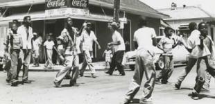 Jolly Bunch boys dancing 1958. Photo Credit: Ralston Crawford