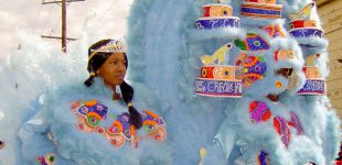 Big Chief Jermaine Bossier and Big Queen of the Creole Hunters Mardi Gras Indians