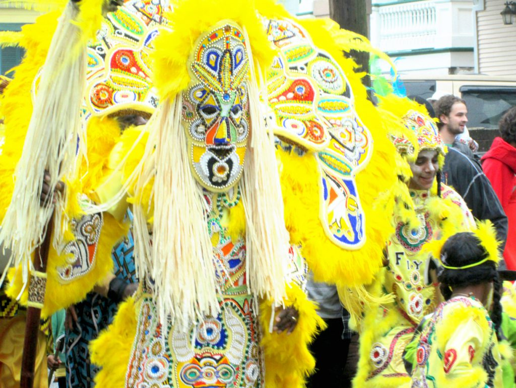 Big Chief Fi Yi Yi and the Mandingo Warriors Mardi Gras Indians. Photo: Zada Johnson